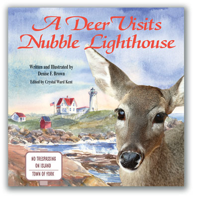 A Deer Visits Nubble Lighthouse